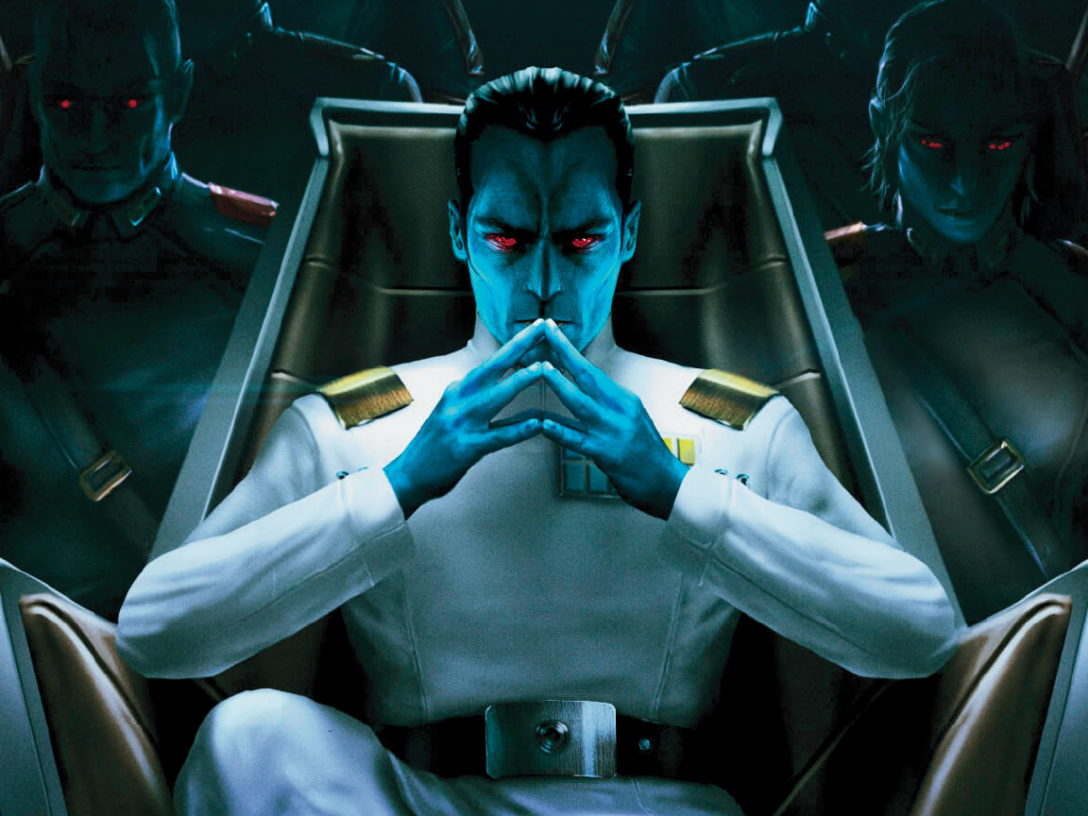 The convention exclusive cover of Thrawn: Treason.