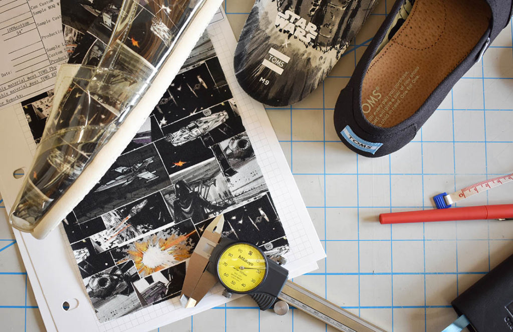TOMS Star Wars shoes design