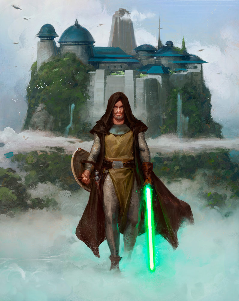 Jedi painting from Star Wars: Myths & Fables.
