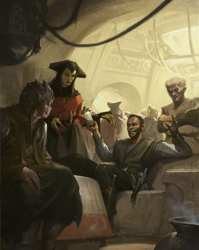 Image of cantina from Star Wars: Myths & Fables.