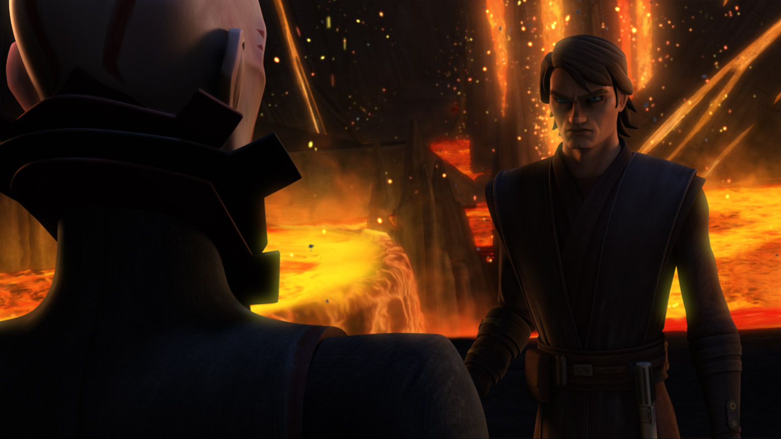 "Anakin and the Son in ""Ghosts of Mortis."""