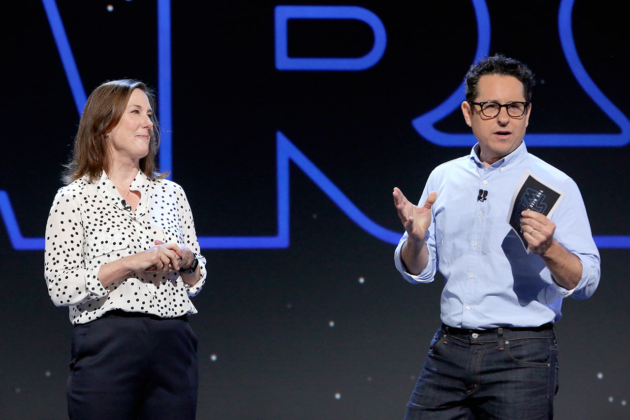 Kathleen Kennedy and J.J. Abrams.