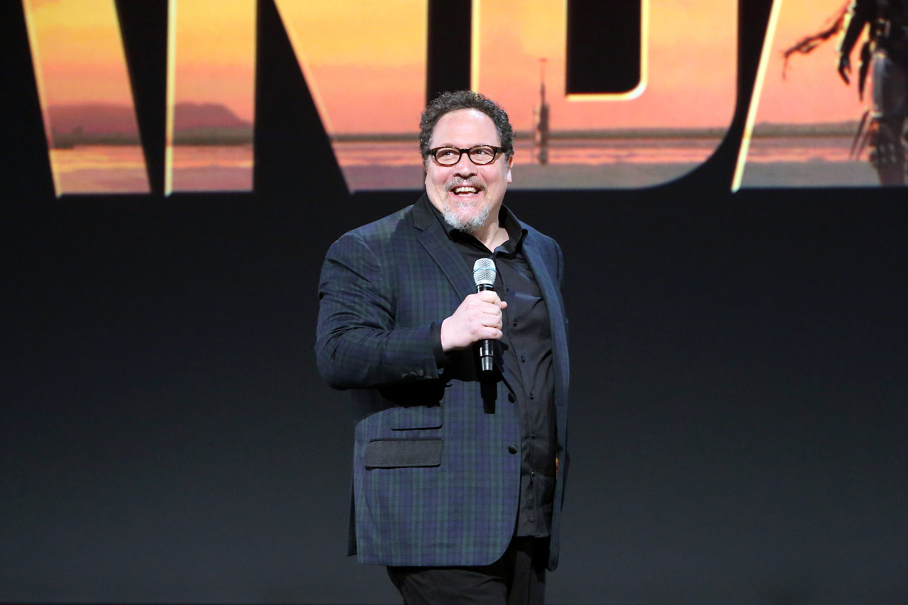 ANAHEIM, CALIFORNIA - AUGUST 23: Executive producer/writer Jon Favreau of 'The Mandalorian' took part today in the Disney+ Showcase at Disney's D23 EXPO 2019 in Anaheim, Calif. 'The Mandalorian' will stream exclusively on Disney+, which launches November 12. (Photo by Jesse Grant/Getty Images for Disney)
