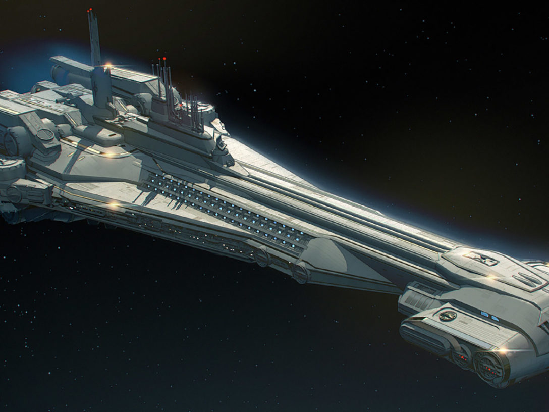 Concept art of Star Wars: Galactic Starcruiser.