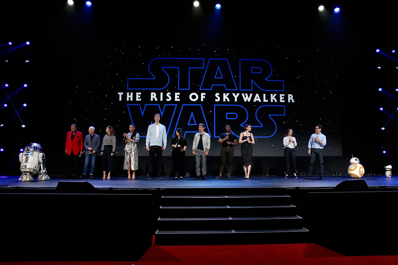 The cast of Star Wars: The Rise of Skywalker.