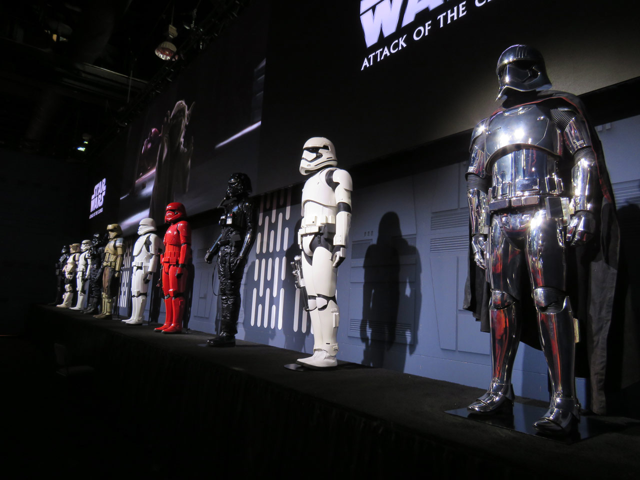 The Evolution of the Stormtrooper exhibit.