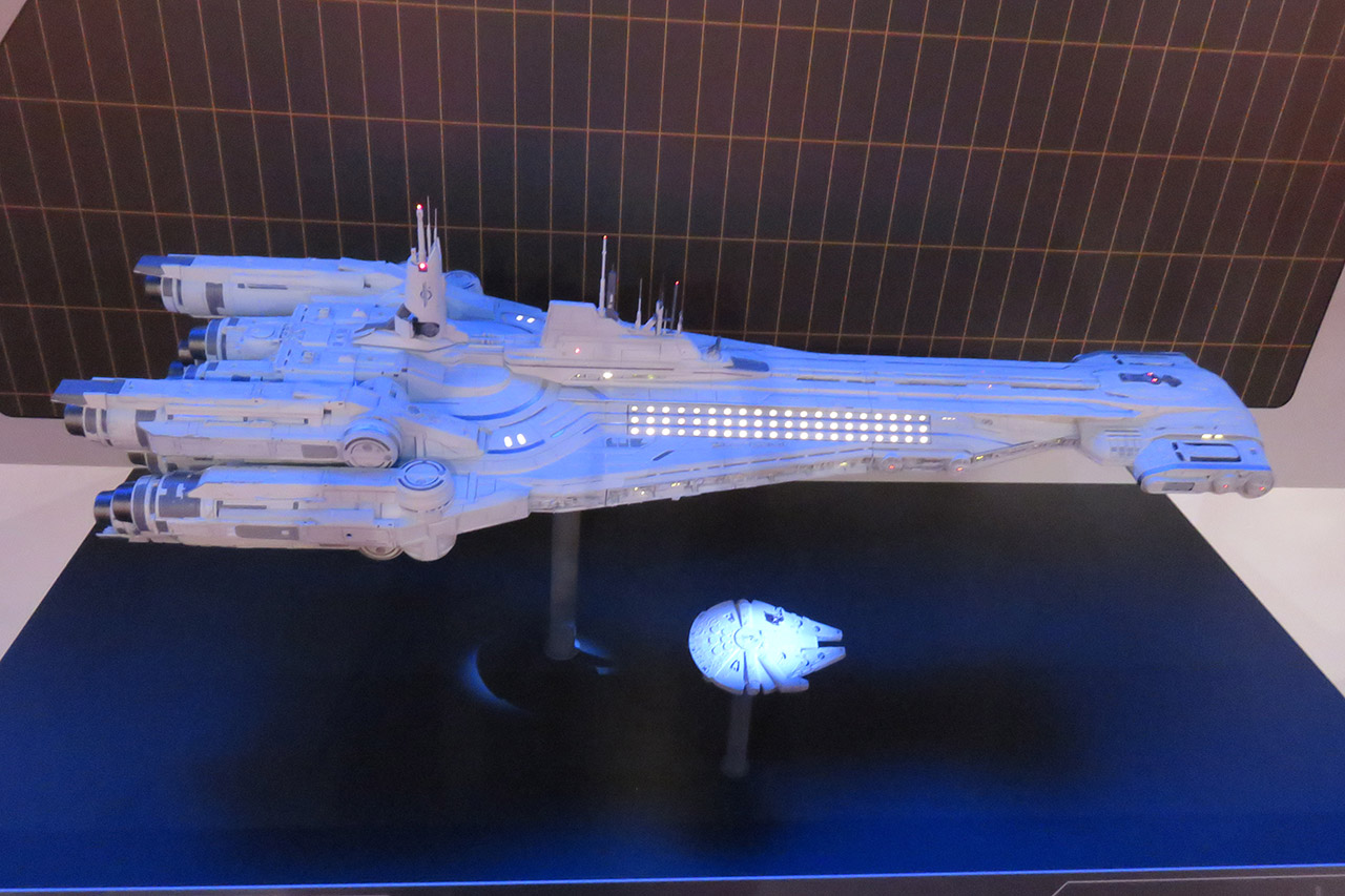 A model of Star Wars: Galactic Starcruiser.