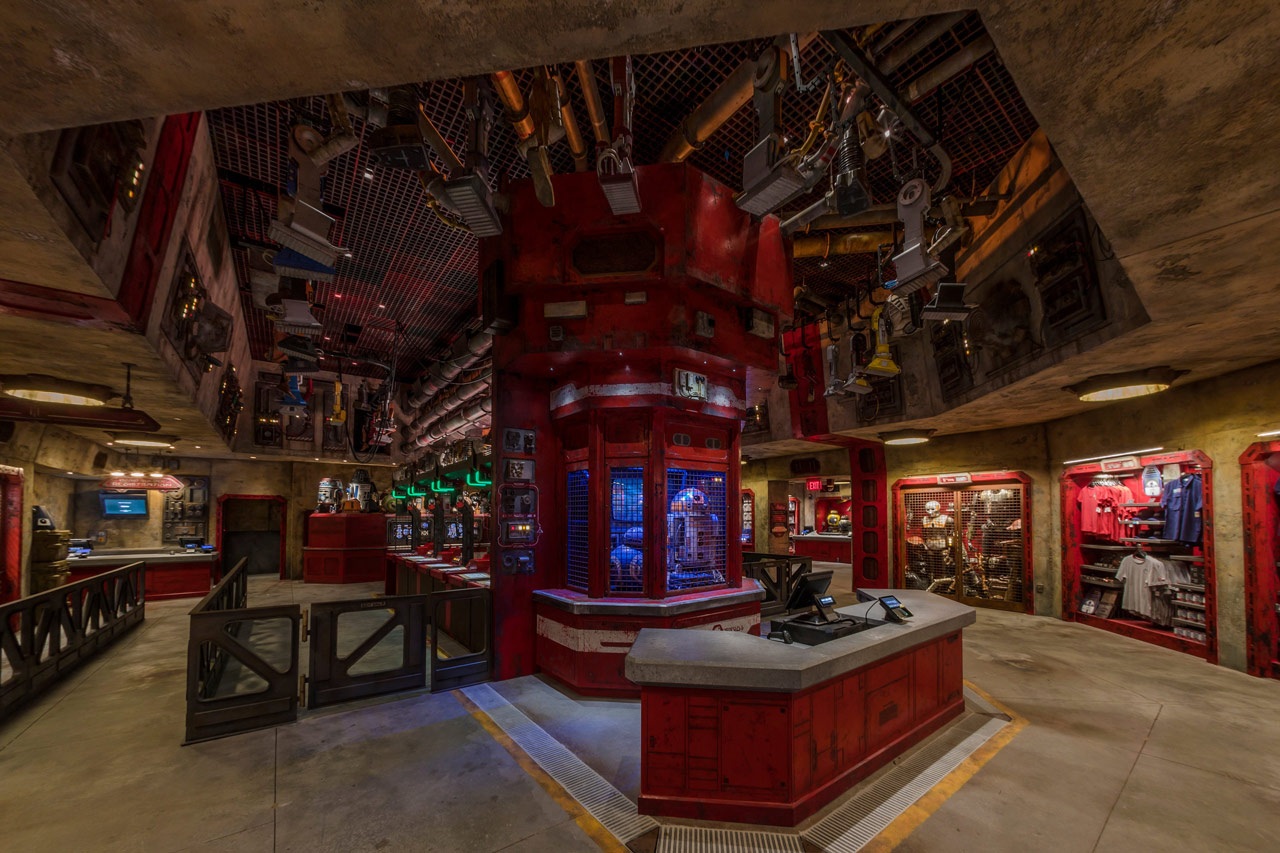 The Droid Depot at Star Wars: Galaxy's Edge