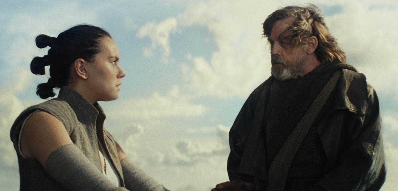 Luke and Rey in The Last Jedi