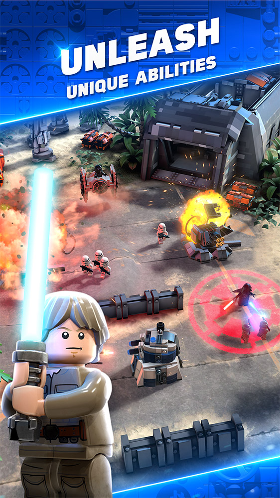 LEGO Star Wars Battles screen.