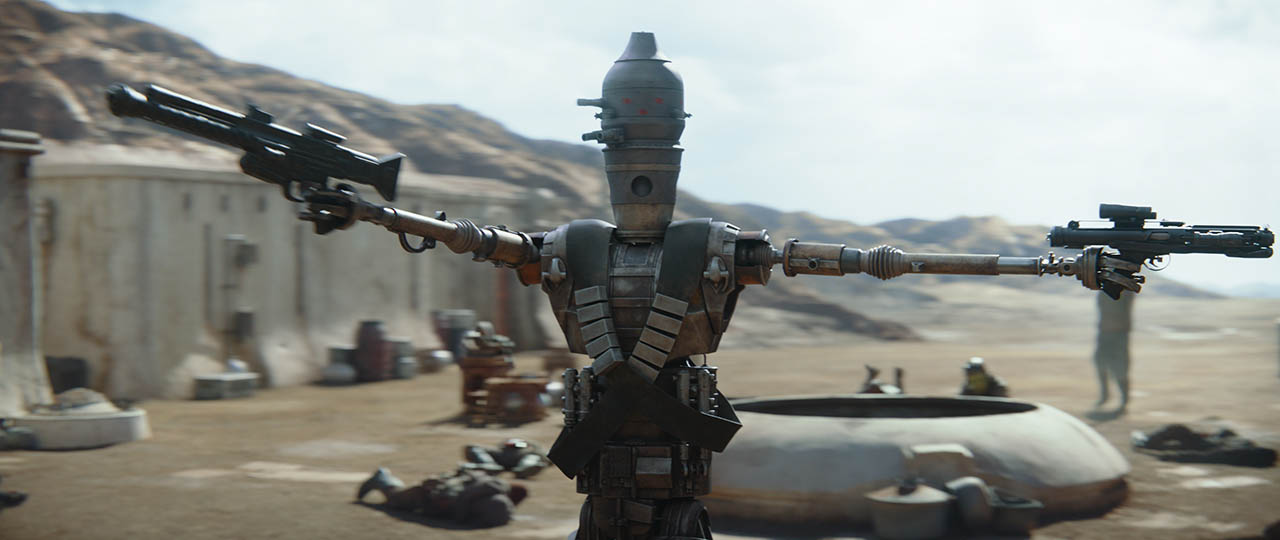 IG-11 in the first trailer for The Mandalorian.