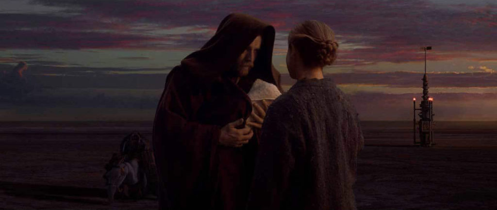 Obi-Wan Kenboi and Beru Lars in Revenge of the Sith