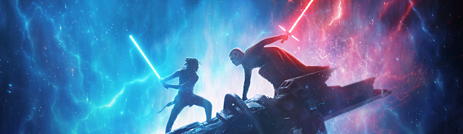 Rey vs. Kylo Ren from the Star Wars: The Rise of Skywalker teaser poster from D23 Expo 2019