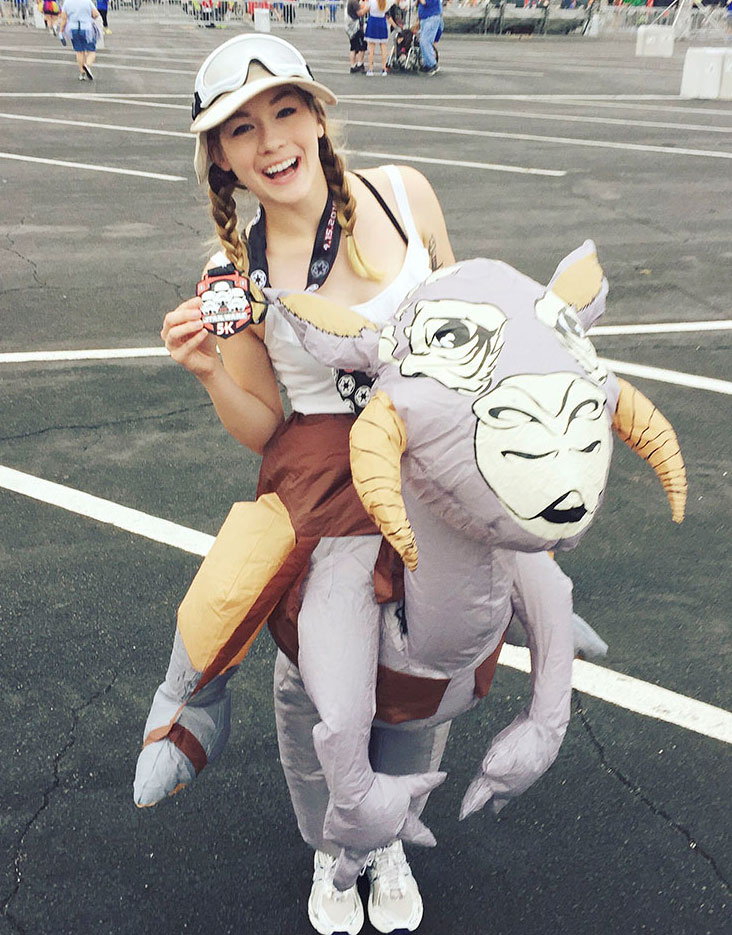 Victoria Fox at runDisney as Luke