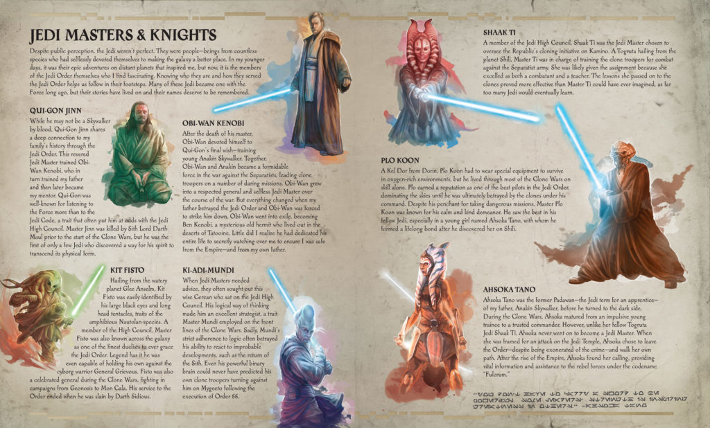 The Secrets of the Jedi - interior spread on the Jedi Order