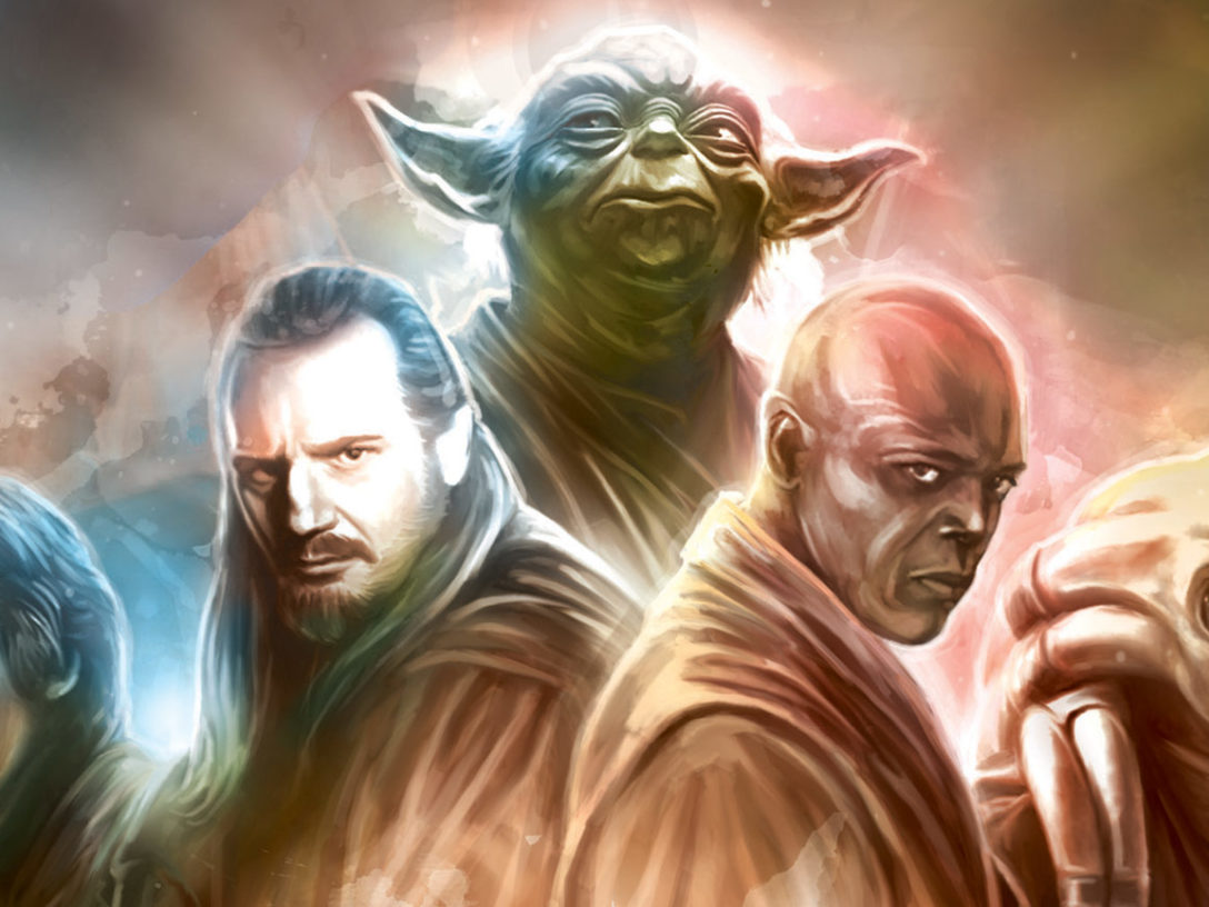 Various Jedi on the cover of Star Wars: Secrets of the Jedi