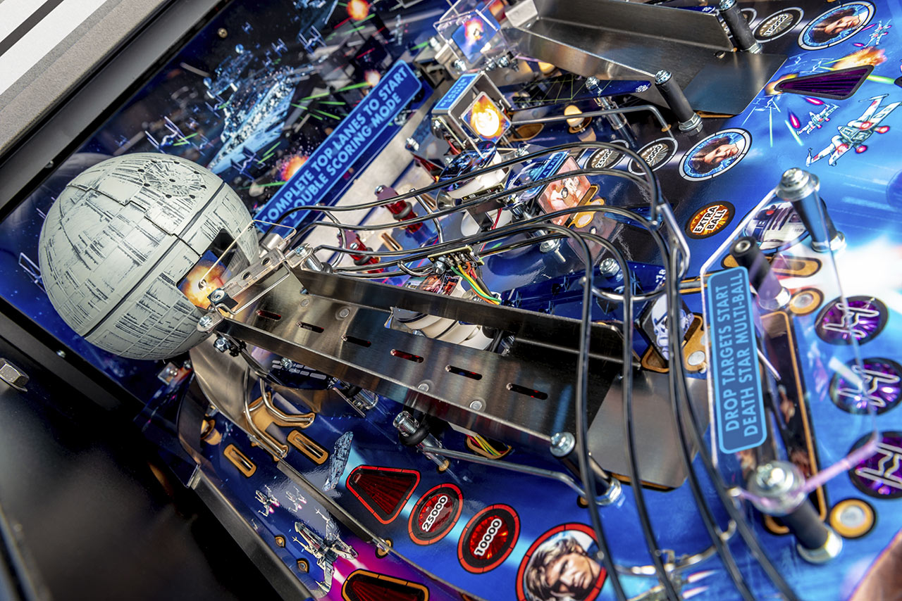Star Wars Pinball Death Star close up