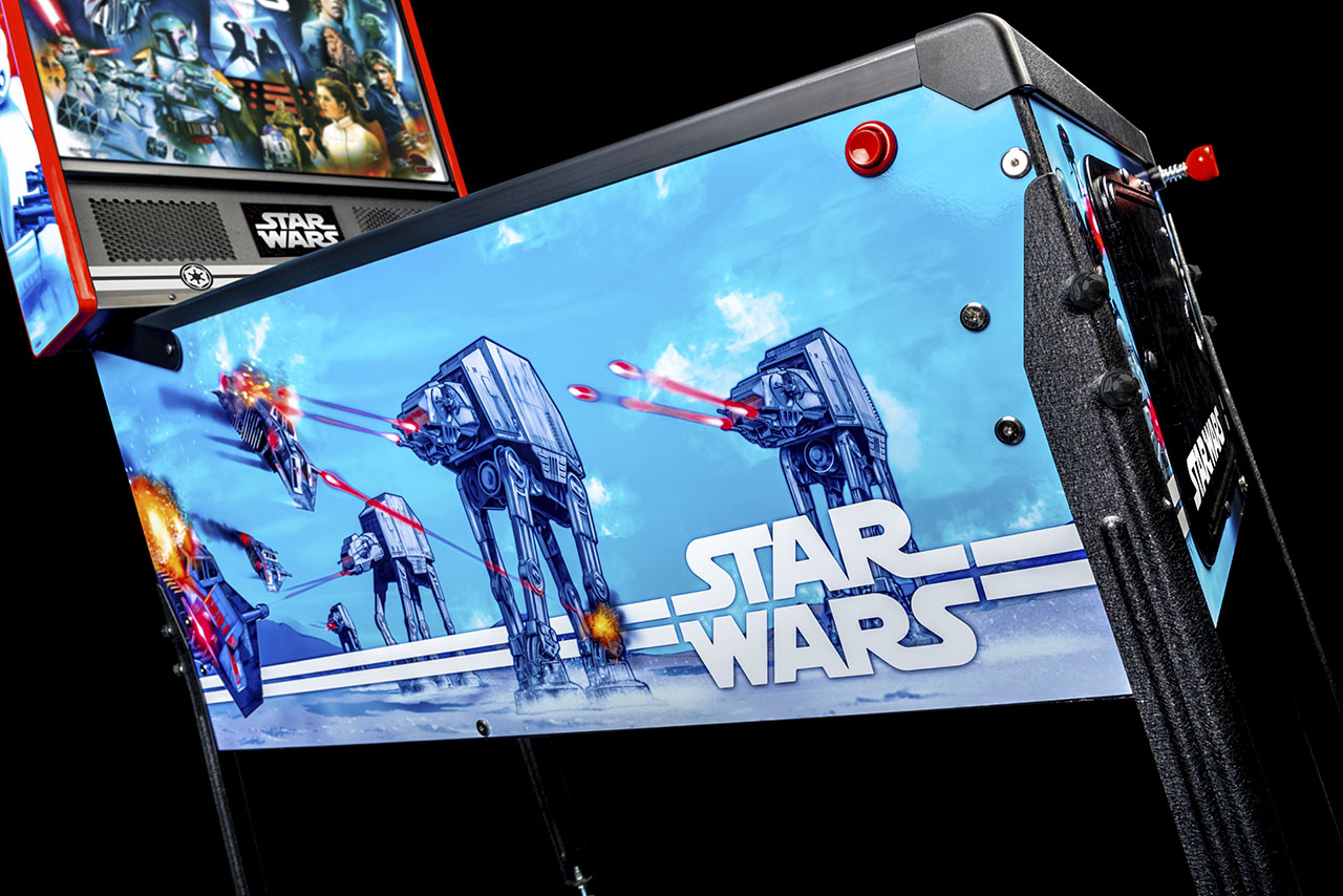 Star Wars Pinball side view