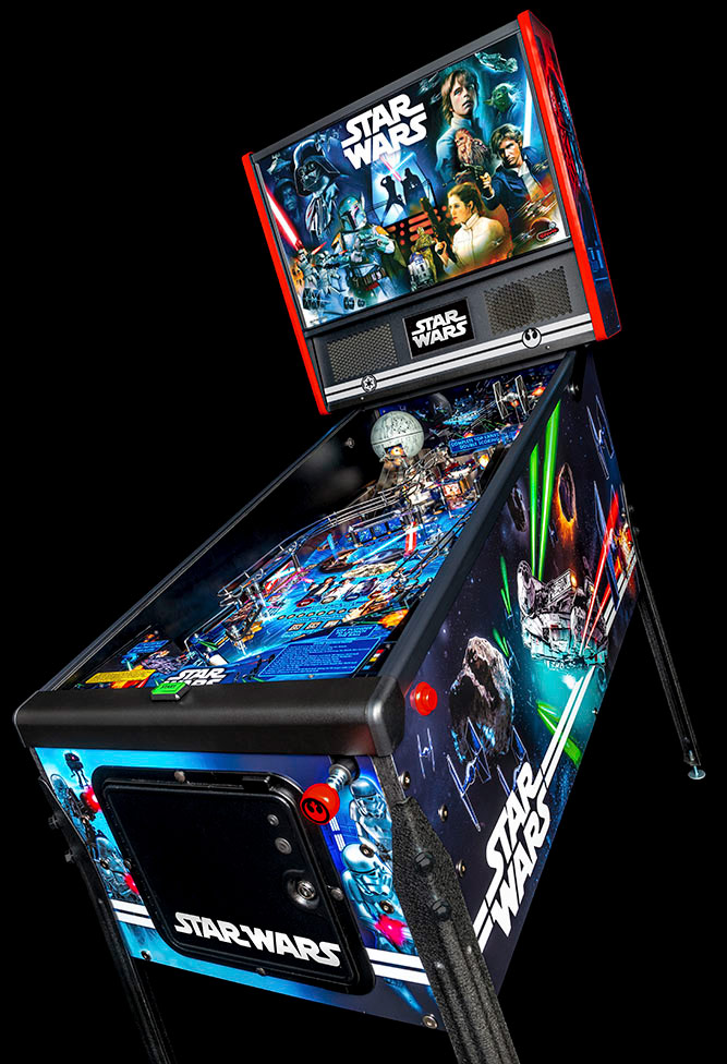 Star Wars Pinball machine wide view