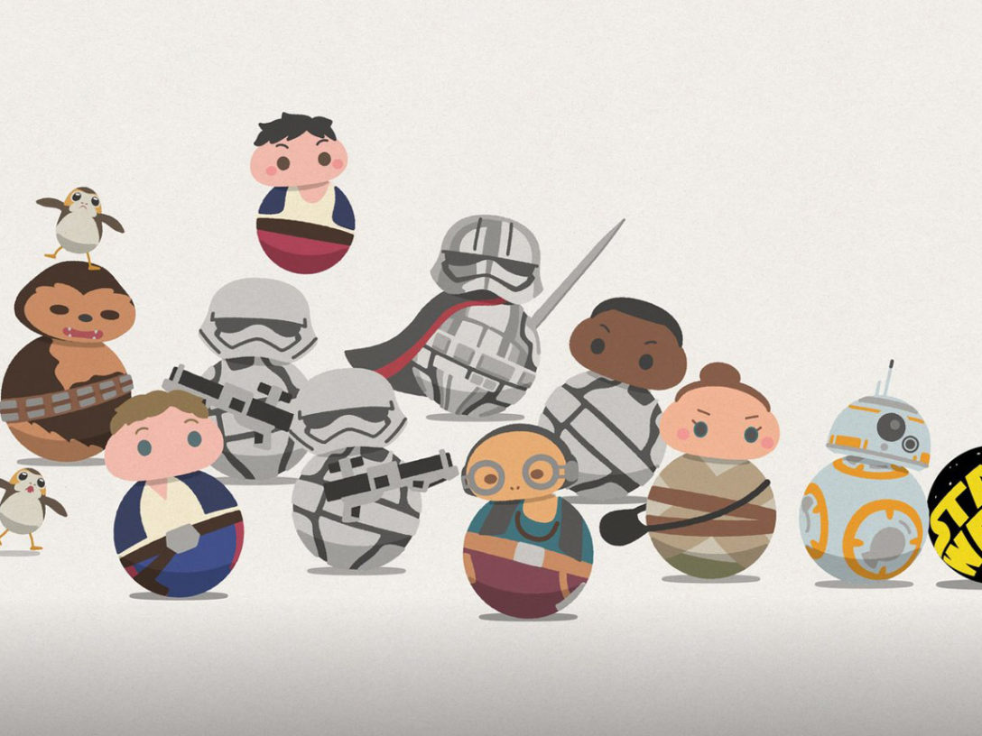 Star Wars characters from Star Wars Roll Out