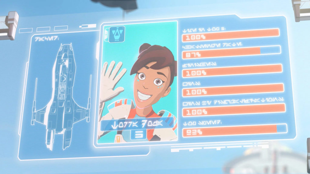 Torra Doza's stats on-screen