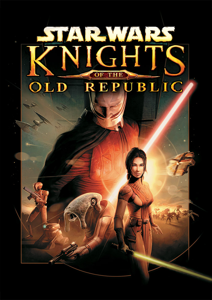 The cover of Star Wars: Knights of the Old Republic the video game.