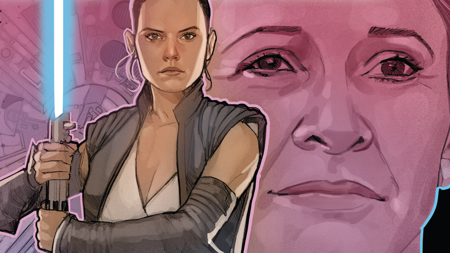 Star Wars: Age of Resistance - Rey #1 cover image featuring Rey and Leia
