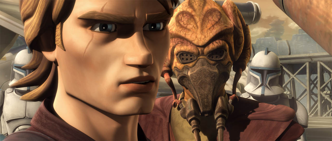 "Anakin and Plo Koon in ""Padawan Lost."""