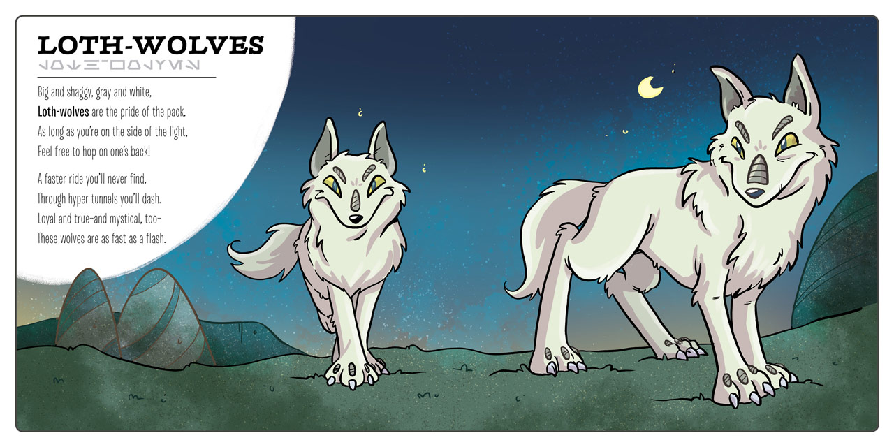 Loth-wolves in the book Star Wars: Creatures Big & Small