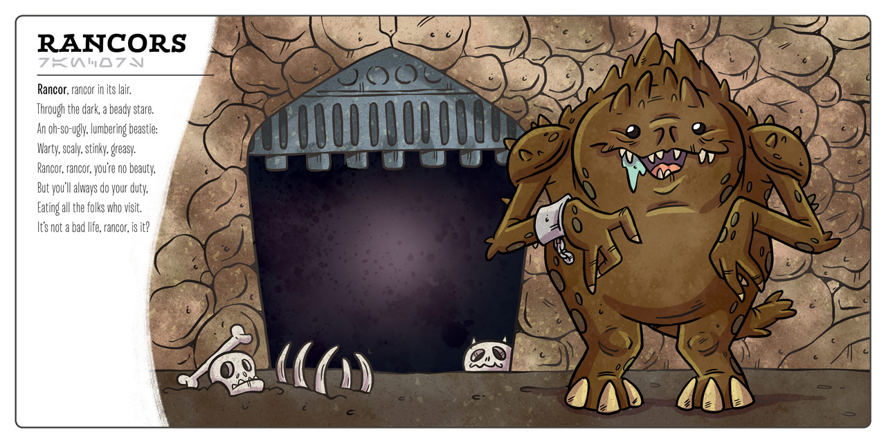 The rancor in Star Wars: Creatures Big & Small