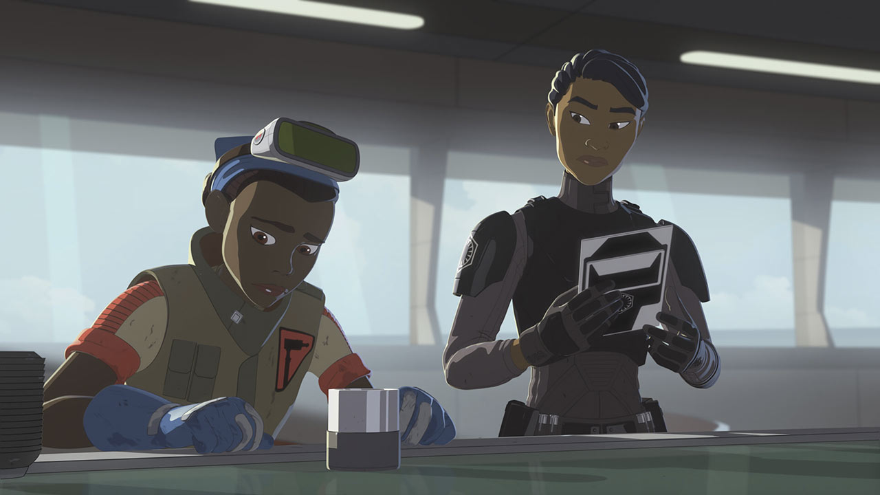 Tierny and Tam in Star Wars Resistance.