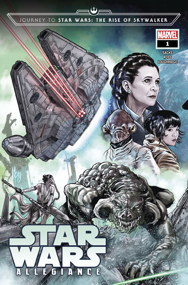The cover of Journey to Star Wars: The Rise of Skywalker — Allegiance issue #1.