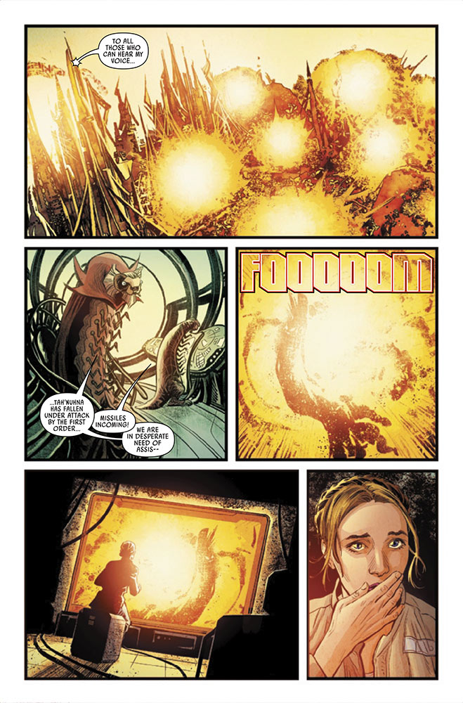 A page from Journey to Star Wars: The Rise of Skywalker — Allegiance issue #1.
