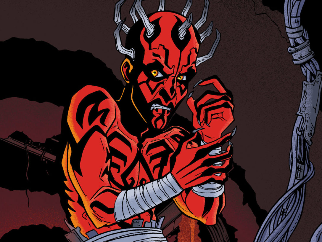 Darth Maul from the cover of Return to Vader's Castle #1.
