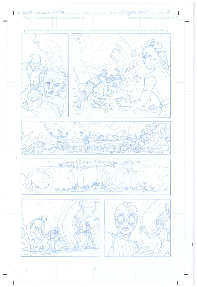 Megan Levens pencils for Return to Vader's Castle #1