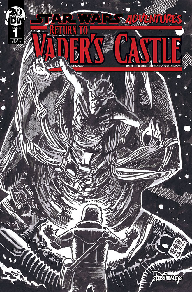 Return to Vader's Castle #1 black-and-white cover