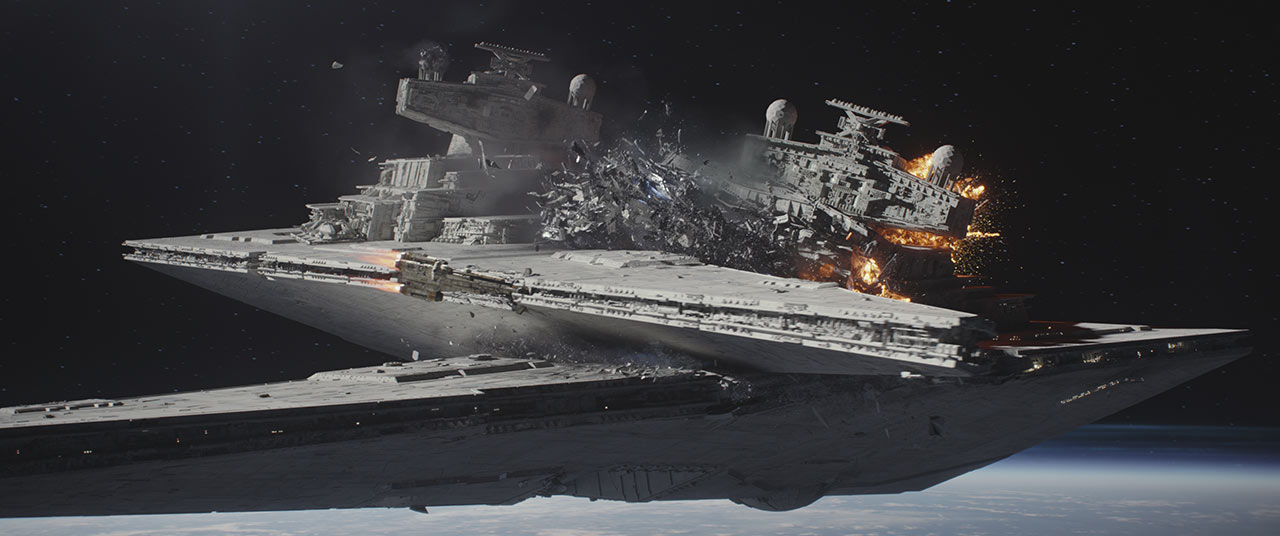 Rogue One Star Destroyer collision