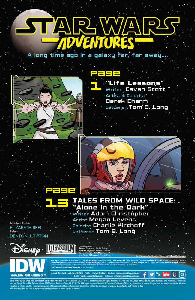 Star Wars Adventures #26 intro page