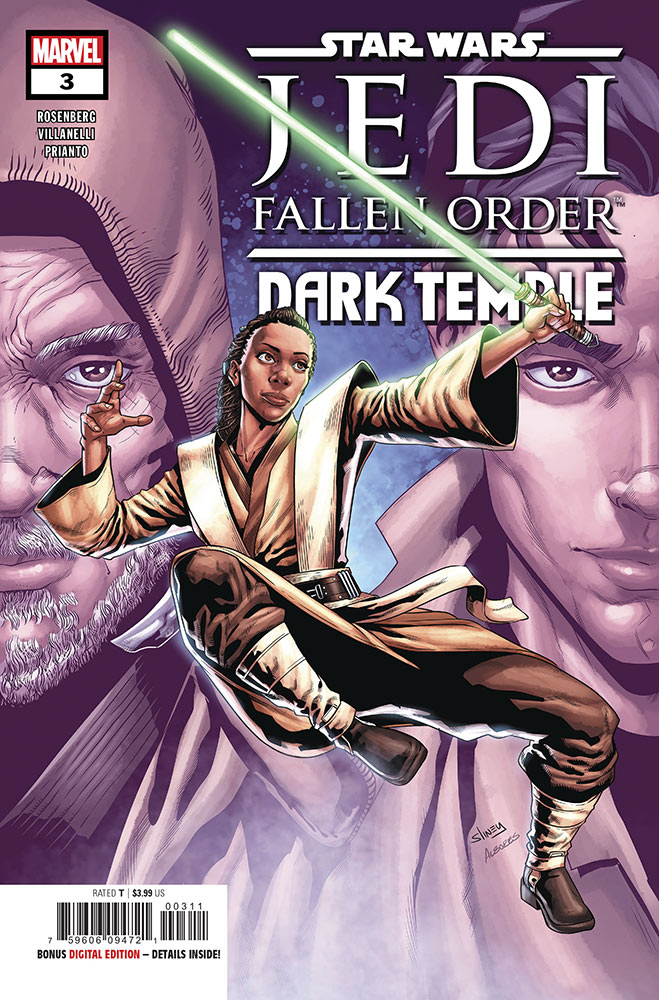 The cover of Star Wars Jedi: Fallen Order — Dark Temple issue #3.