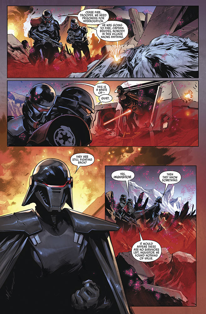 A page from Star Wars Jedi: Fallen Order — Dark Temple issue #3.