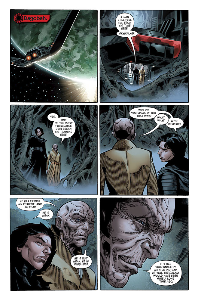 A page from Marvel's Age of Resistance - Supreme Leader Snoke #1.