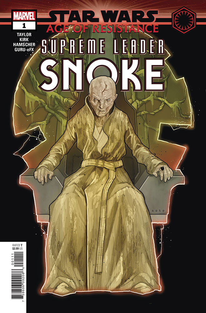 The cover of Marvel's Age of Resistance - Supreme Leader Snoke #1.