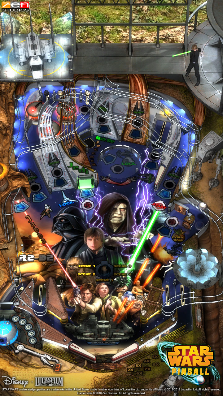 Star Wars Pinball for Nintendo Switch - Return of the Jedi table