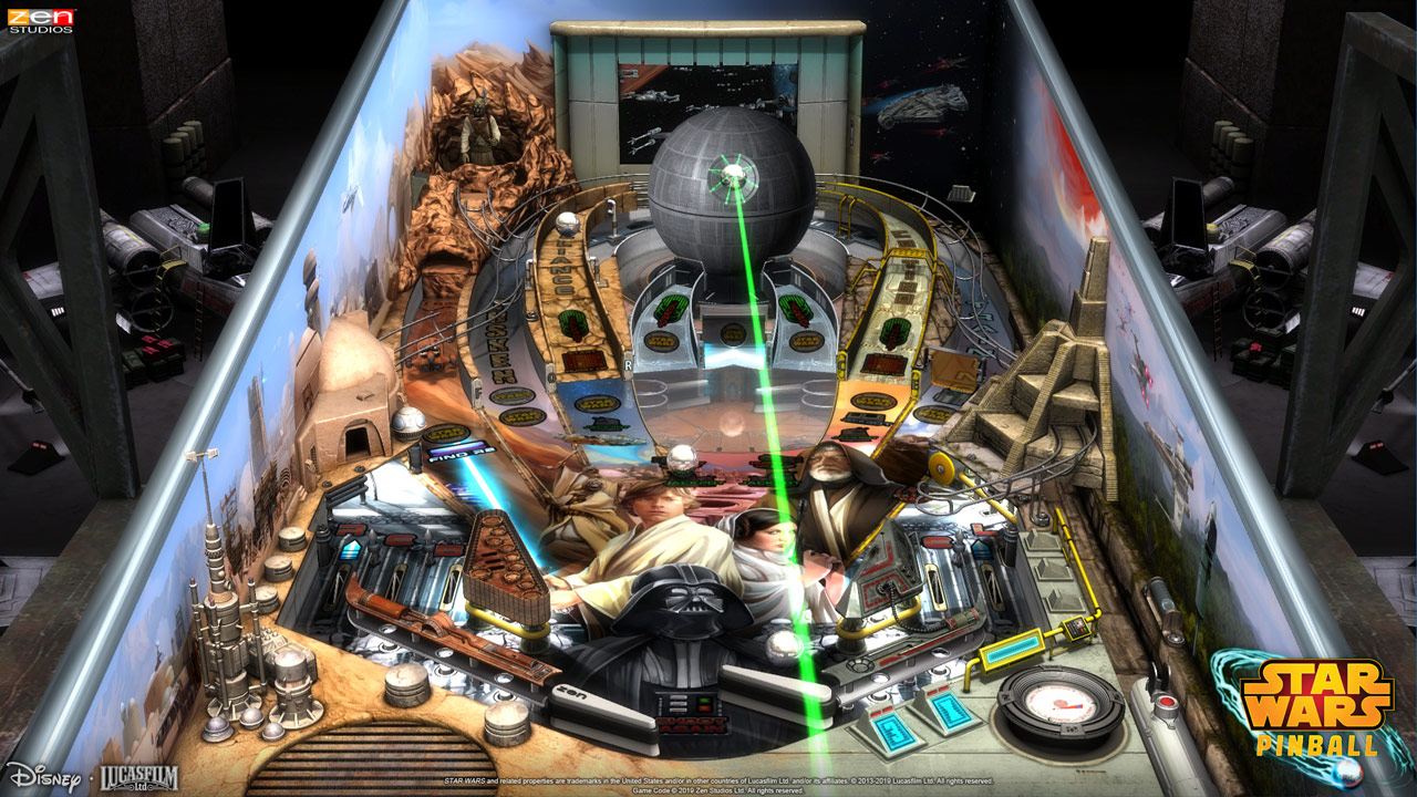 Star Wars Pinball for Nintendo Switch - A New Hope table