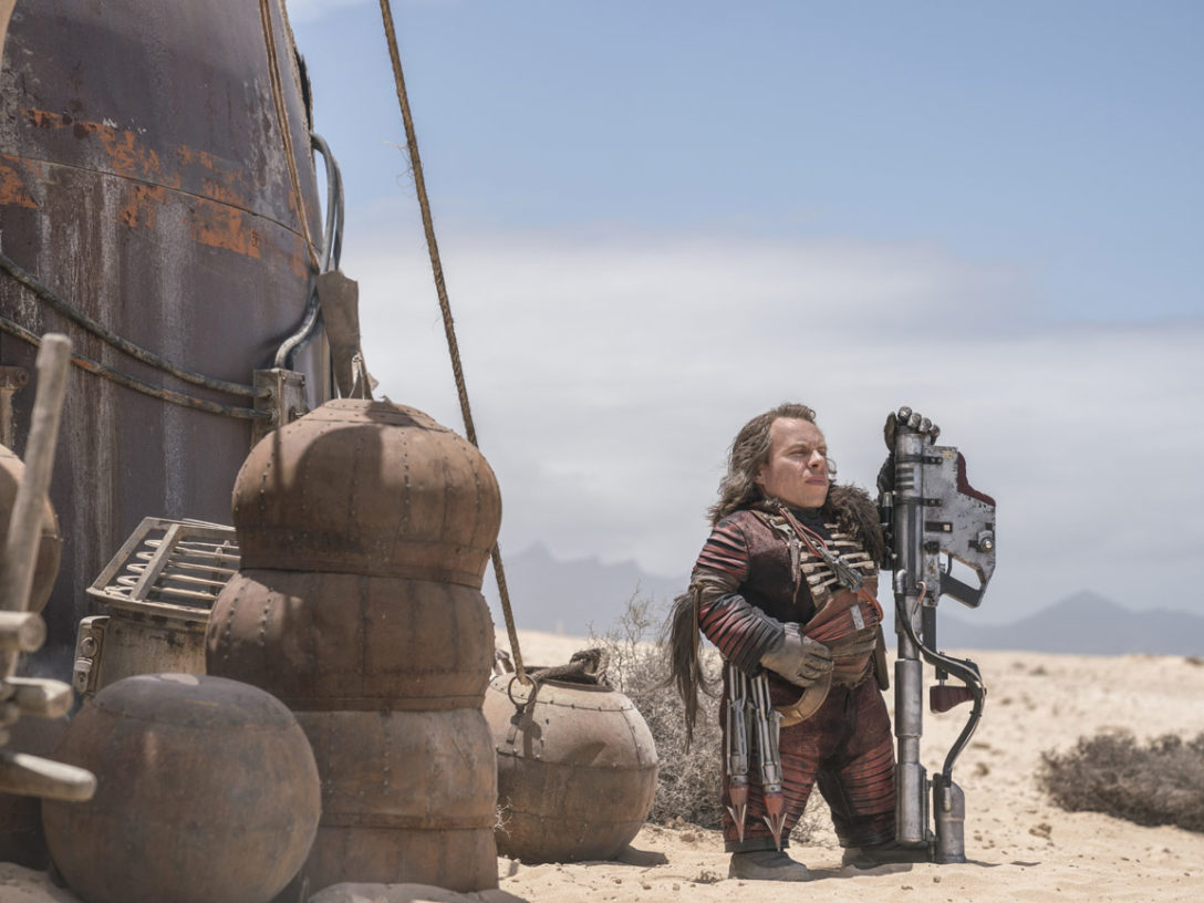 Warwick Davis as Weazel in Solo: A Star Wars Story