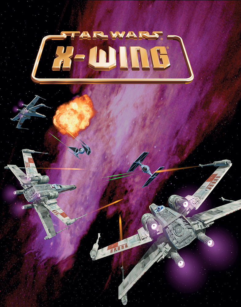 The cover of Star Wars: X-Wing the video game.
