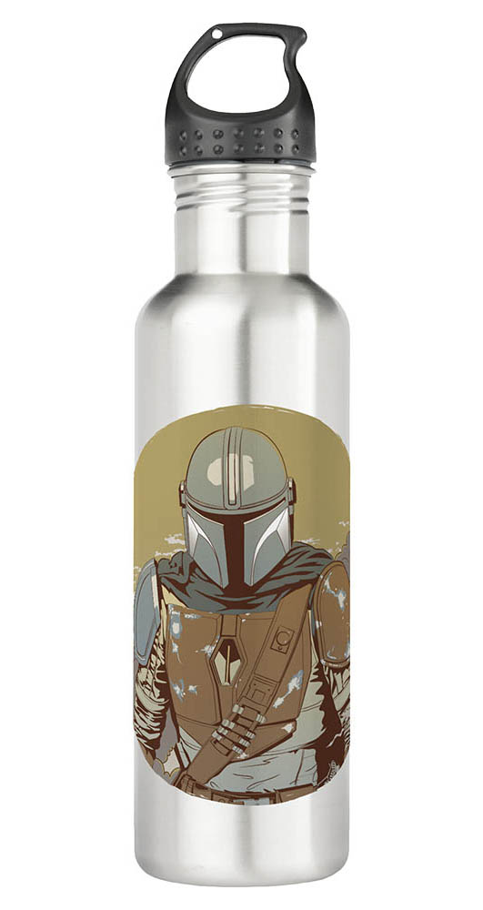 A Mandalorian water bottle
