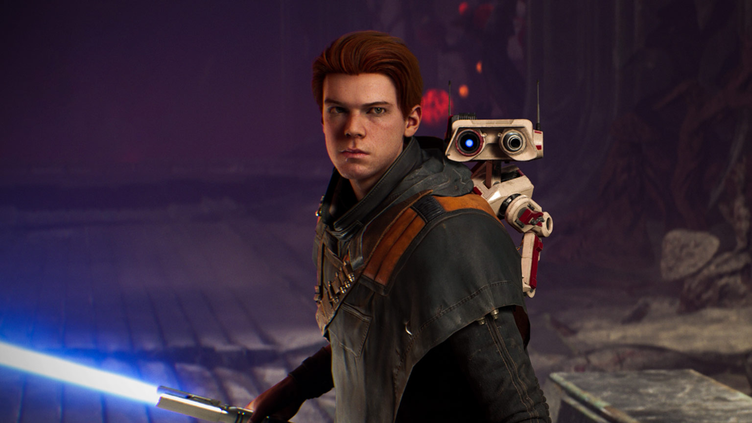 Cal and BD-1 in Star Wars Jedi: Fallen Order