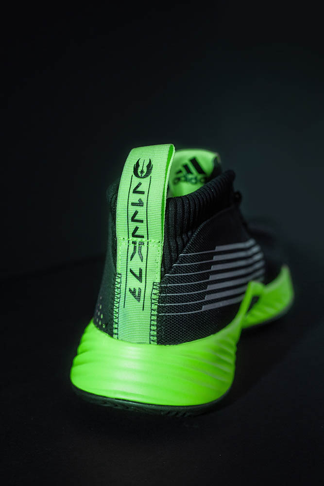A shoe from the Adidas lightsaber pack.