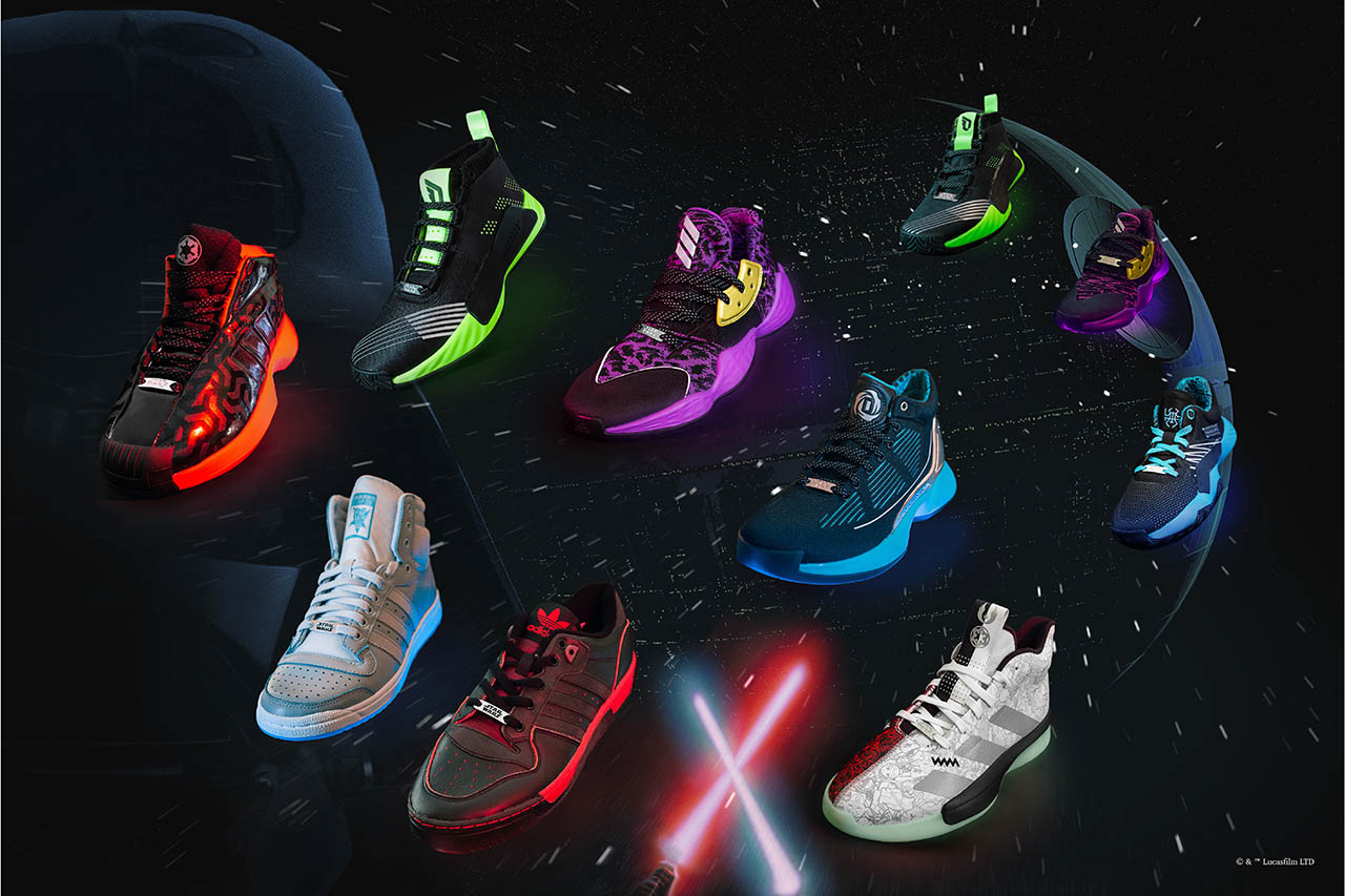 The Adidas lightsaber pack.